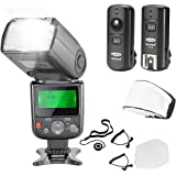 Neewer NW-670 TTL Flash Speedlite with LCD Display Kit for Canon DSLR Cameras,Includes:(1)NW-670 Flash,(1)2.4 GHz Wireless Tr