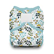 Thirsties Duo Wrap Cloth Diaper Cover, Hook and Loop Closure, Birdie Size One (6-18 lbs)