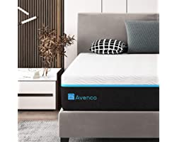 Queen Memory Foam Mattress, Avenco 12 Inch Mattress Queen Size Mattress in a Box, Premium Bed Mattress Queen with CertiPUR-US