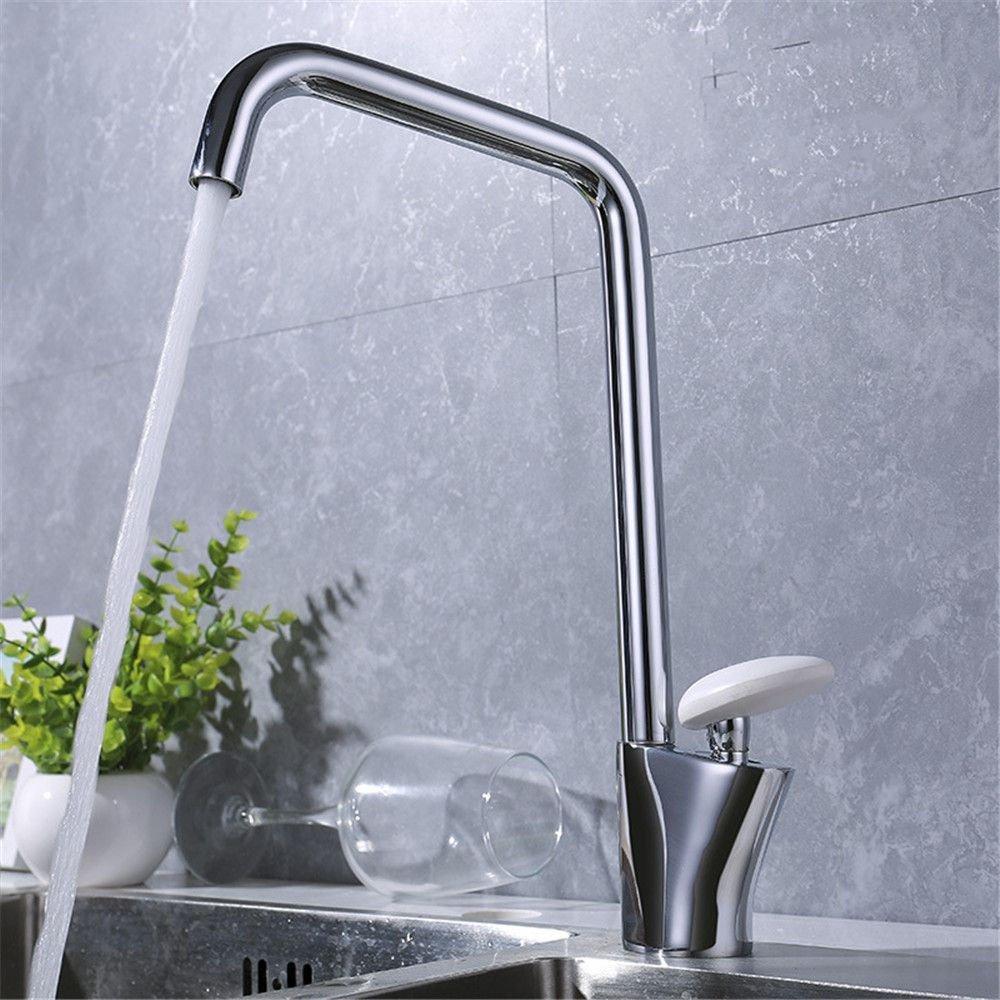 DOJOF Bathroom Sink Faucet Basin Mixer Tap Chrome Brass Hot and Cold Water Basin Sink Tap Bathroom Bar Faucet