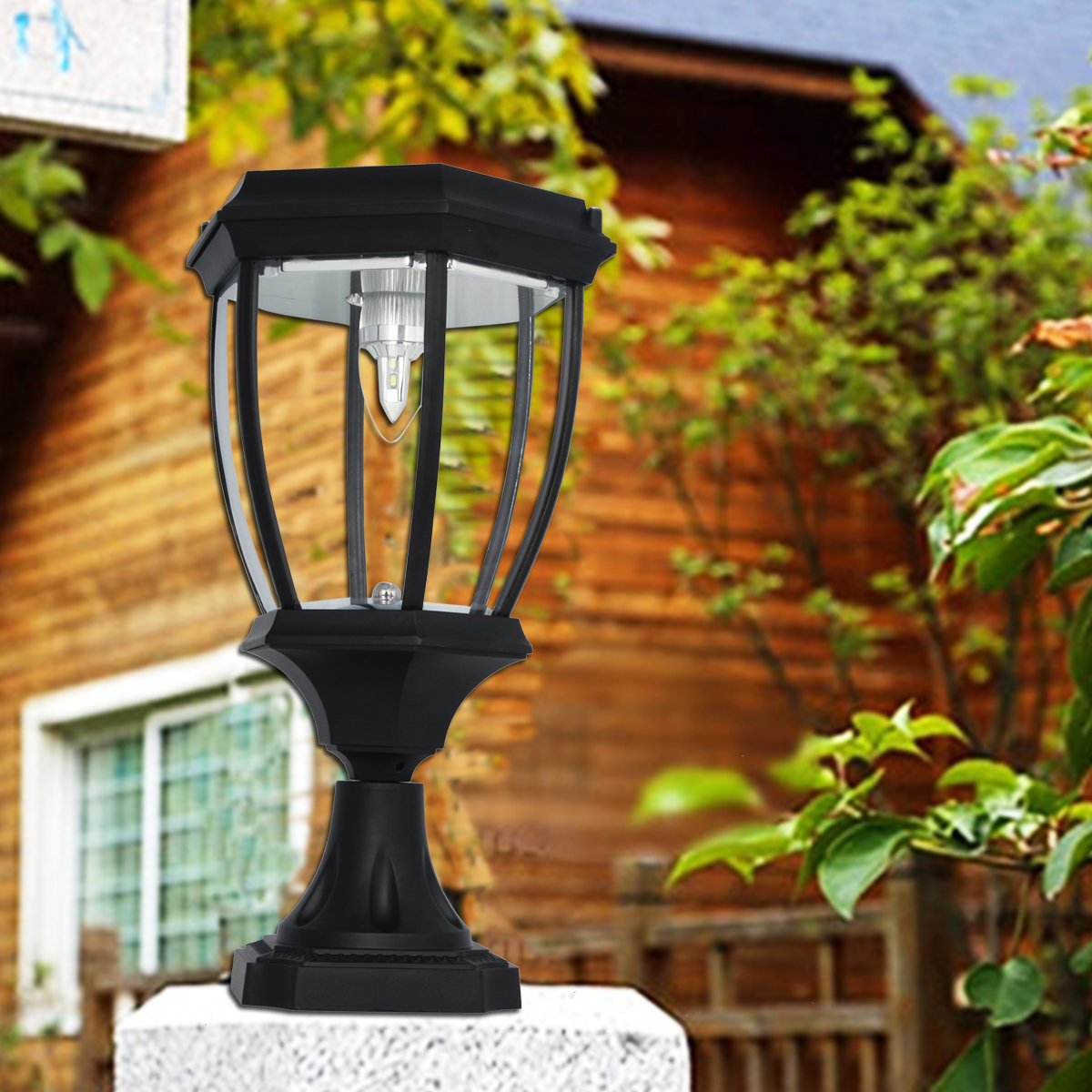 Large Outdoor Solar Powered LED Light Lamp SL-8405