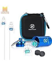 Tapones de Oído, Hearprotek Tapones para los oídos con caja de aluminio-Protección auditiva para para conciertos, música en vivo, percusión, DJ con cable de conexión (Reutilizable y Cómodo)