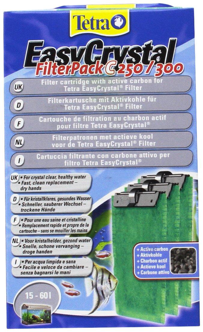 TETRA EasyCrystal C250/300 - Cartouche de Filtration au charbon pour Filtres EasyCrystal 250 et 300 – Emploi Simple et facile - triple filtration brevetée - sans odeur - Boite de 3 cartouches filtre product image