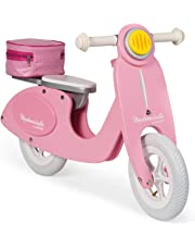 Janod- Draisienne Scooter Rose Mademoiselle (Bois), J03239