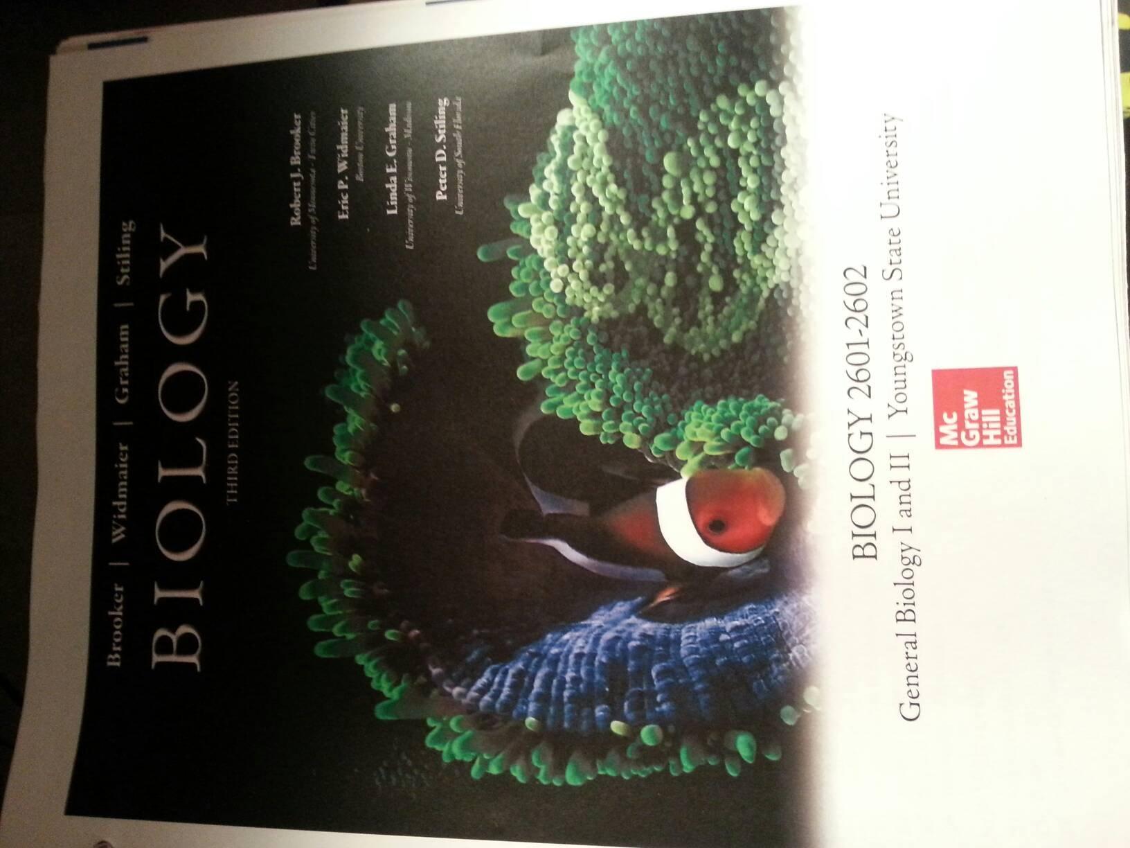 BIOLOGY BROOKER 3RD EDITION PDF