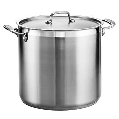 Tramontina 80120/002DS Covered Stock Pot, 20-Quart, Stainless Steel