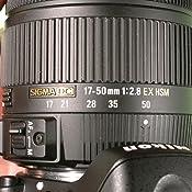 Sigma - Objetivo 17-50 mm f/2,8 EX DC OS HSM (Rosca para Filtro de ...