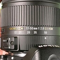 Sigma 17-50mm f/2.8 EX DC OS HSM SAF: Amazon.es: Electrónica