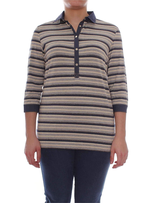 Elena Mirò Women's G486L18181blueE bluee Cotton Polo Shirt