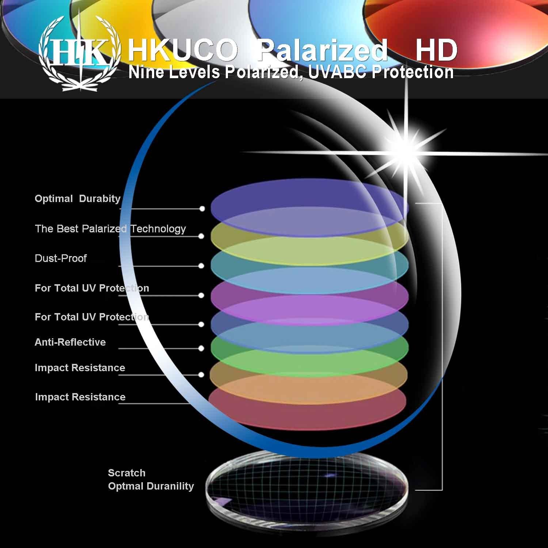 HKUCO Mens Replacement Lenses for Costa Fisch FS rosso blu blu blu nero 24K oro Titanium Sunglasses | Ottima selezione  | Reputazione affidabile  | Forte calore e resistenza al calore  | Ordini Sono Benvenuti  | Intelligente e pratico  f68024