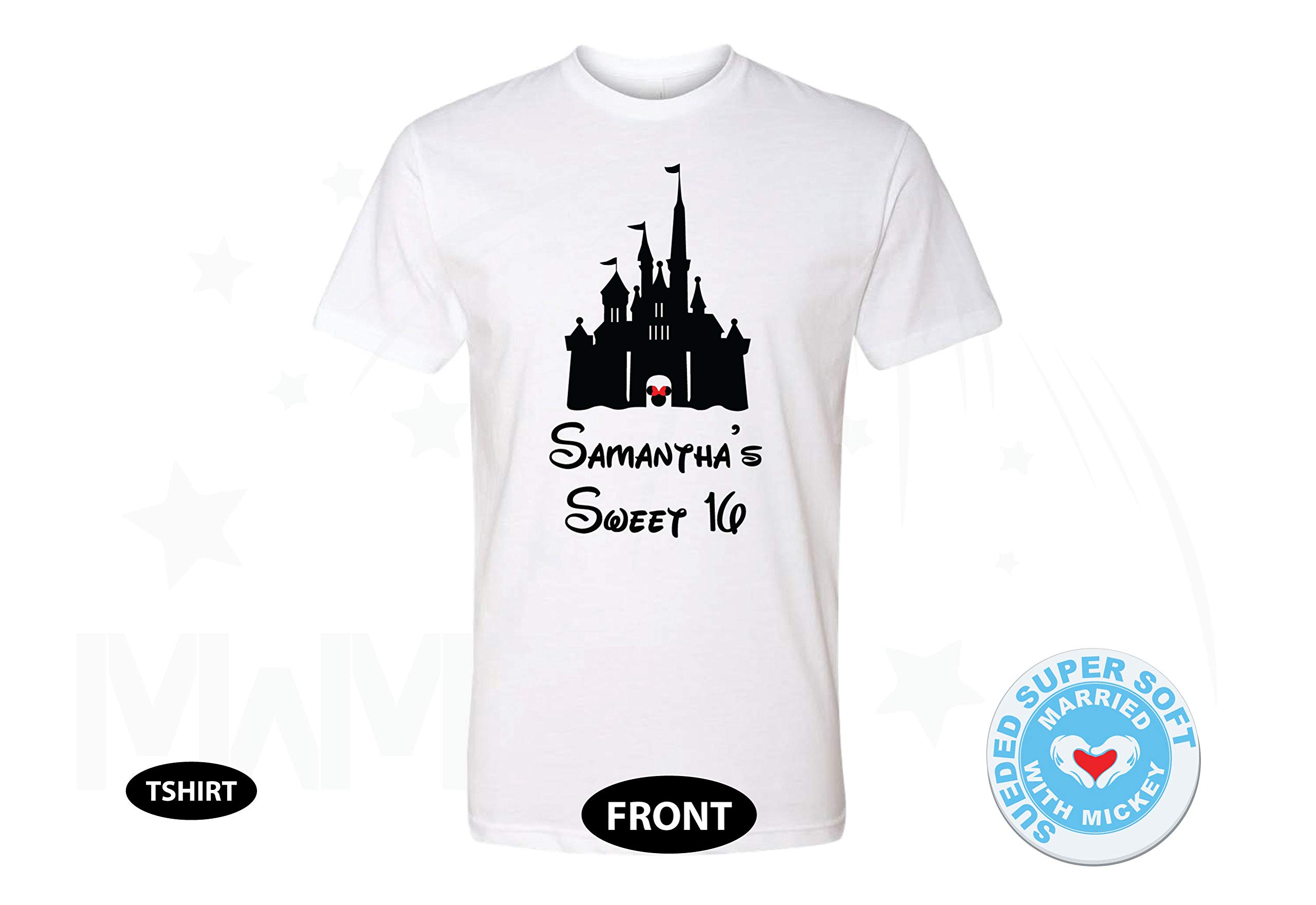 Sweet 16 Shirt With Castle And Custom Name 3251