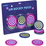 Vivid Two-tone Air Hockey Pucks (6-pack) | Wear-proof Molded Psychedelic Patterns and Designs | Large 3.25-inch Pucks for Sta