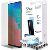 Galaxy S10 Screen Protector, [Dome Glass] Full 3D Curved Edge Tempered Glass [Exclusive Solution for Ultrasonic Fingerprint]