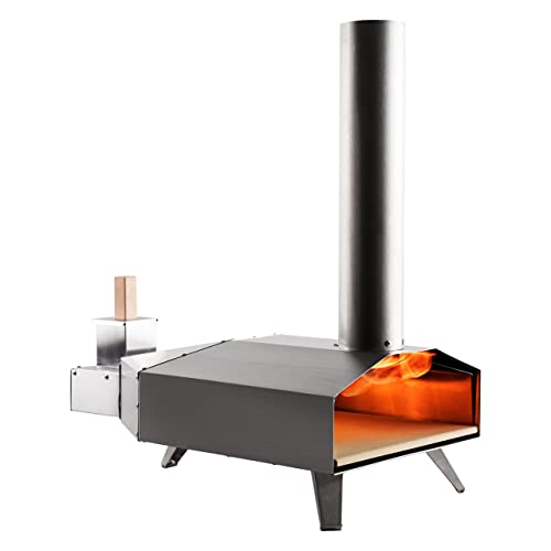 Ooni 3 Portable Wood Pellet Pizza Oven W/Stone and Peel, Stainless Steel
