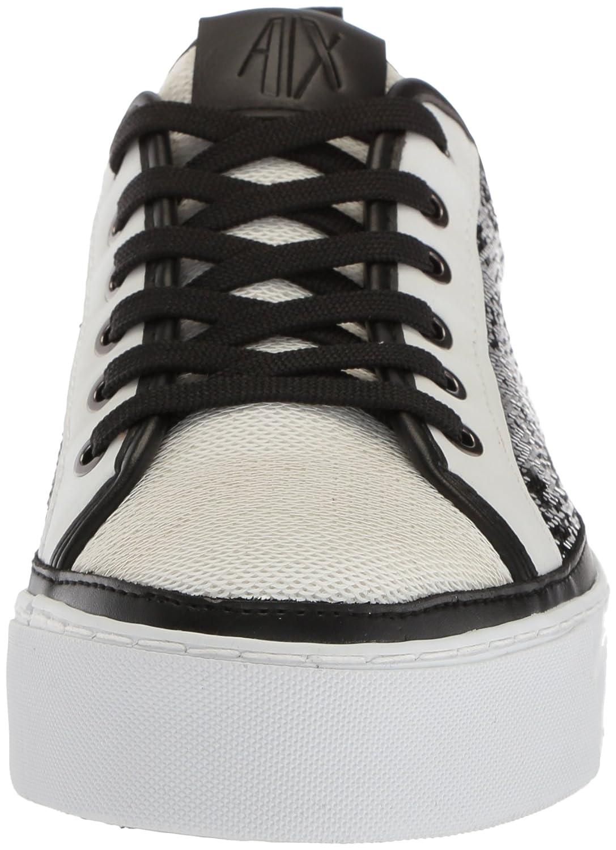 A|X Armani Exchange 7 Women's Sequined Low Cut Sneaker B0749WD1L7 7 Exchange B(M) US|Bianco/Nero f81b41