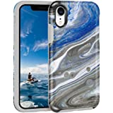 MAXCURY Case Compatible with iPhone XR, Blue Marble Ultra Sturdy Shock Absorption Durable Full Body Protective Universe Case