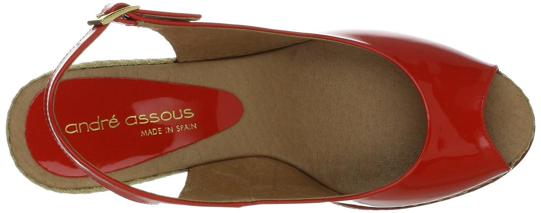 Andre Assous Women's Mia Wedge Sandal B009EPB9LQ 10 B(M) US|Tangerine