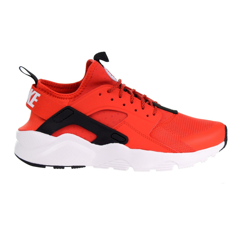 NIKE Mens Huarache Run Ultra Running Shoes B07CZ55ZDF 9.5 D(M) US|Habanero Red/White/Black