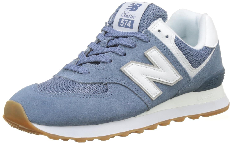 New Balance Damen Wl574eb Sneaker Blau (Light Porcelain Blau)