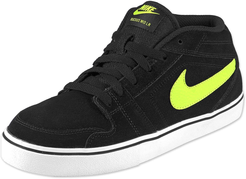 Nike Ruckus Mid LR Hi Sneaker/Freizeitschuh  Black/Atomic gre6en natural Grey  EU 39 US6.5