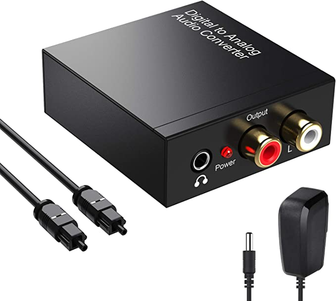 Amazon.com: Digital to Analog Audio Converter 192KHz, DAC Digital SPDIF Coaxial Optical Convert to L/R RCA, Toslink Optical to 3.5mm Jack Audio Adapter for PS4 HD DVD Home Cinema Systems: MP3 Players & Accessories