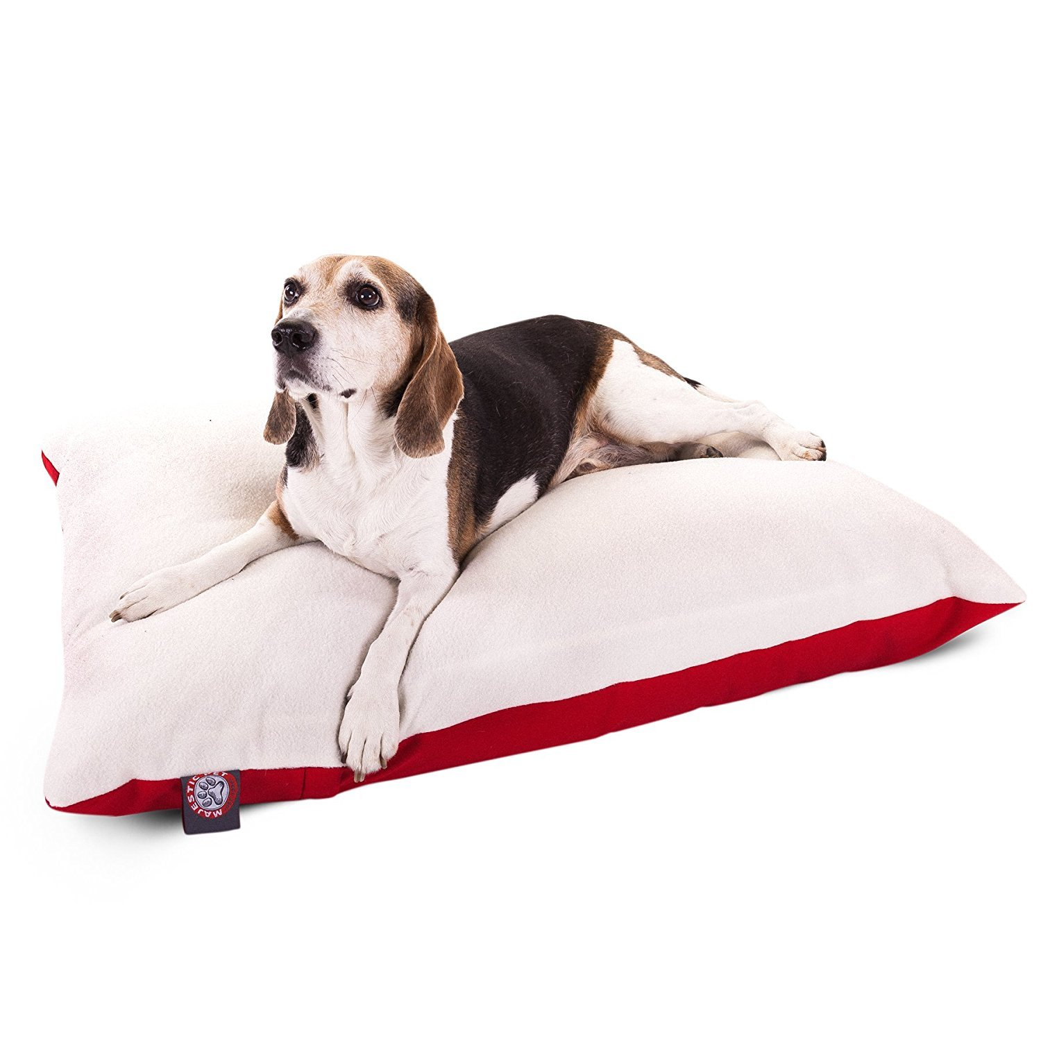 Red Medium (40 in. x 30 in.) Red Medium (40 in. x 30 in.) Majestic Pet 30-Inch x 40-Inch Rectangle Pet Bed By Majestic Pet Products, Medium, Red