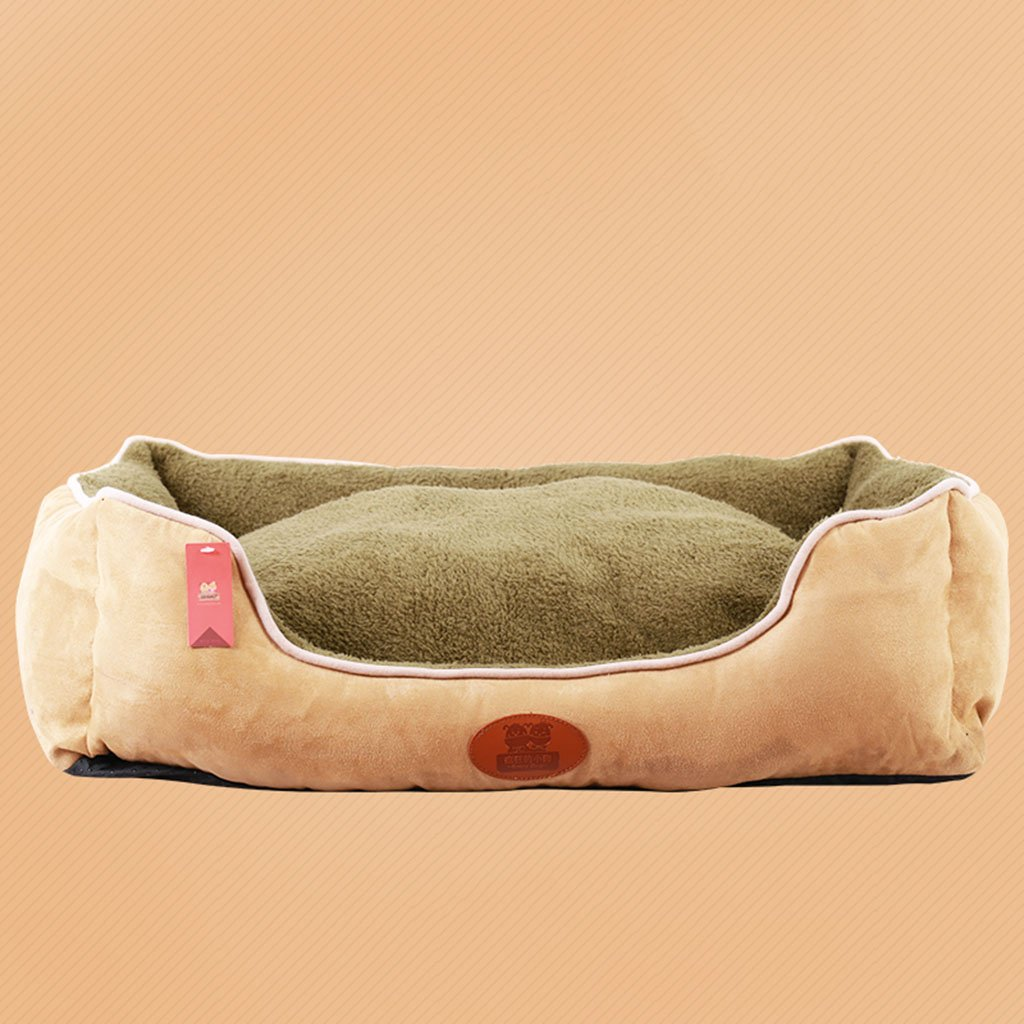 D 50x60x21CM D 50x60x21CM LIYONG Teddy Kennel Removable And Washable Pet Nest Four Seasons Universal Pet Mat Double-sided Available Bed (color   D, Size   50x60x21CM)