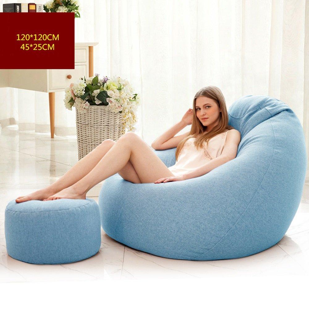 descuento de ventas en línea D ZHM Lazy People Sofa - Apartamento Apartamento Apartamento de Estilo japonés Lounge Sofa - Silla - Hotel - Sillón reclinable de Gran tamaño con reposapiés (Color   G)  ventas de salida