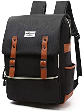 Vintage Laptop Backpack, Canvas College Backpack School Bag Fit for 15 Inch Laptop for Daily Use Teacher Students Travel by Puersit