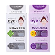 MOTHER MADE Anti-Wrinkle & DarkCircle Removing Eye Mask - Snow Shining Eye Patch & Multi-Active Eye Patch SET (6 patches x 2 pack for 12 uses), Firm Your Eye Areas, and Remove the DarkCircles