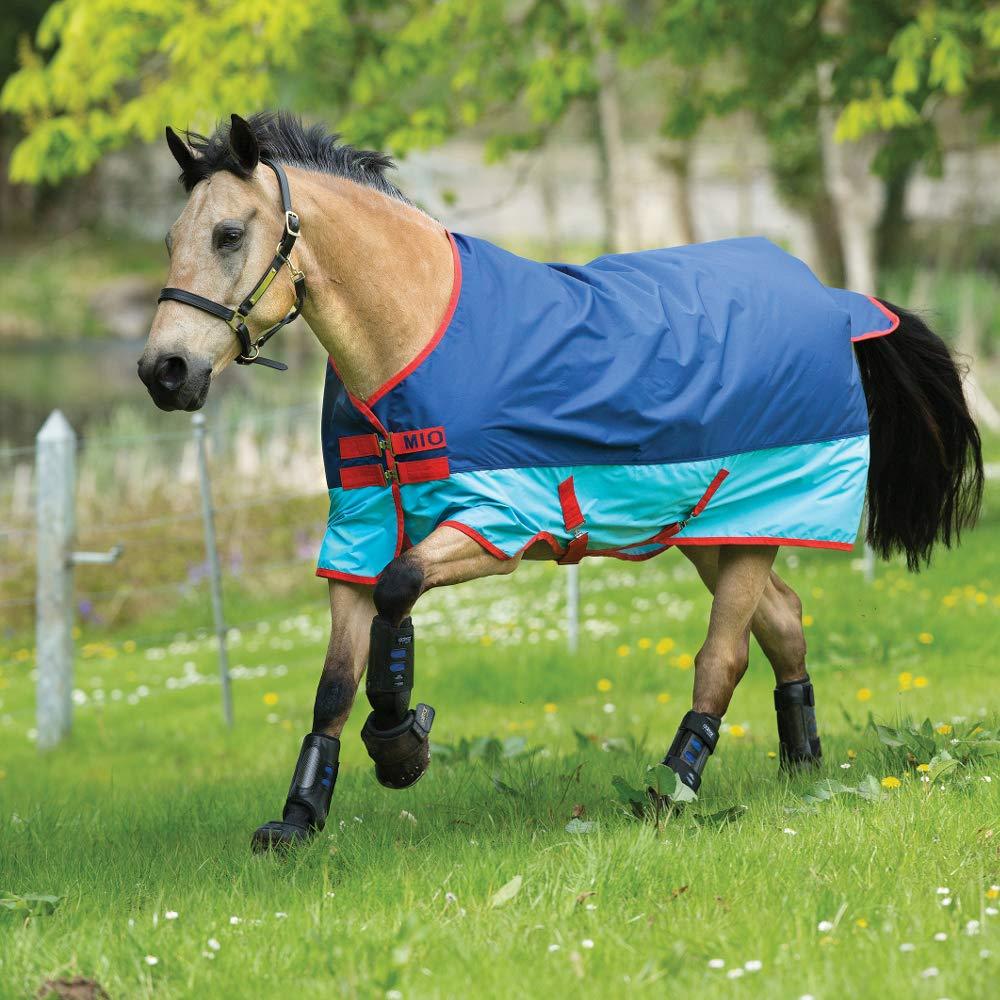 bluee Aqua Red 6'3\Horseware Amigo Mio Lite Turnout Rug 6ft3 Dark bluee Aqua Red