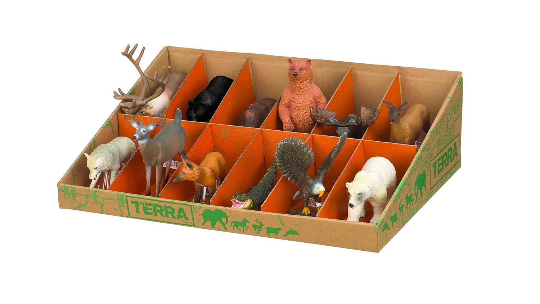 Battat Terra by AN6053GTZ- Figuras de Animales de América del Norte (12 Piezas)