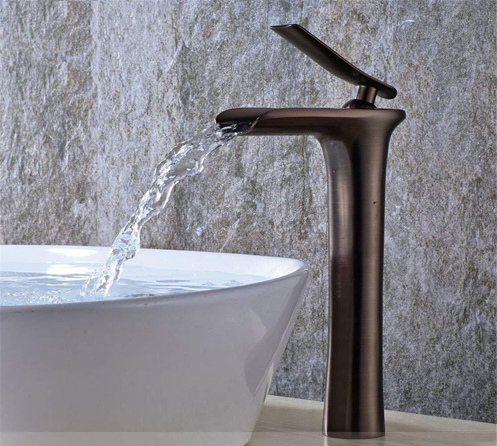 G LHbox Basin Mixer Tap Bathroom Sink Faucet Euro-copper antique basin waterfall single hole table basin table basin faucet, B