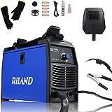 RILAND MIG Welder 110v, MIG Welding Machine, Automatic Wire Feed Welder, Flux Cored Welder with DIY Home Portable Welder Acce