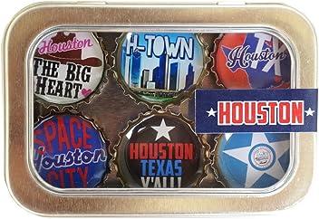 Kate Grenier Designs Houston Bottle Cap Magnets