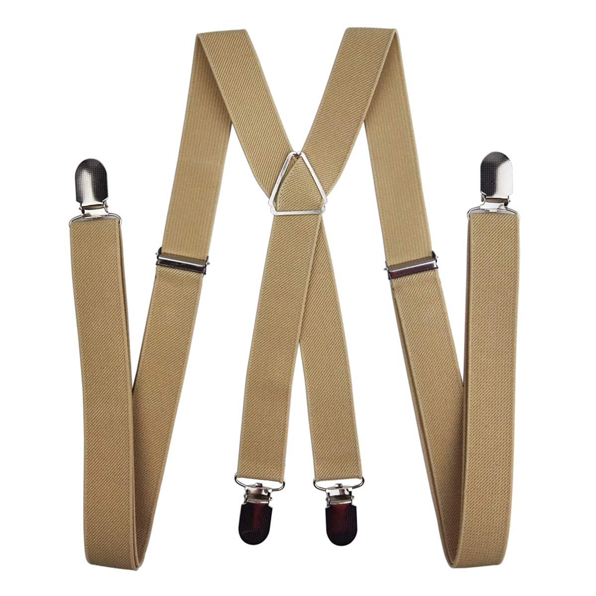 4423a800112 Universal Suspenders 2.5cm Polyester Material X-Shape with 4 Clips for Men  and Women