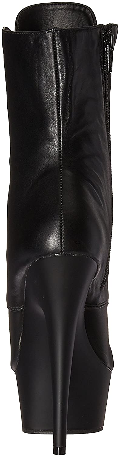 Pleaser Delight-1020 Damen Kurzschaft Stiefel Leather/Blk Blk Leather/Blk Stiefel f5cbe8
