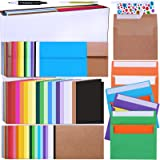 108 Sets 18 Colors A6 Invitation Envelopes Peel & Seal Self-Seal 4 3/4 x 6 1/2 Envelopes with A6 Flat Cards and A6 Folded Car