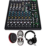 Mackie PROFX10V3 10 Channel Professional Effects Mixer with USB Bundle with Tascam Closed-Back Pro Headphones & Deco Gear Har