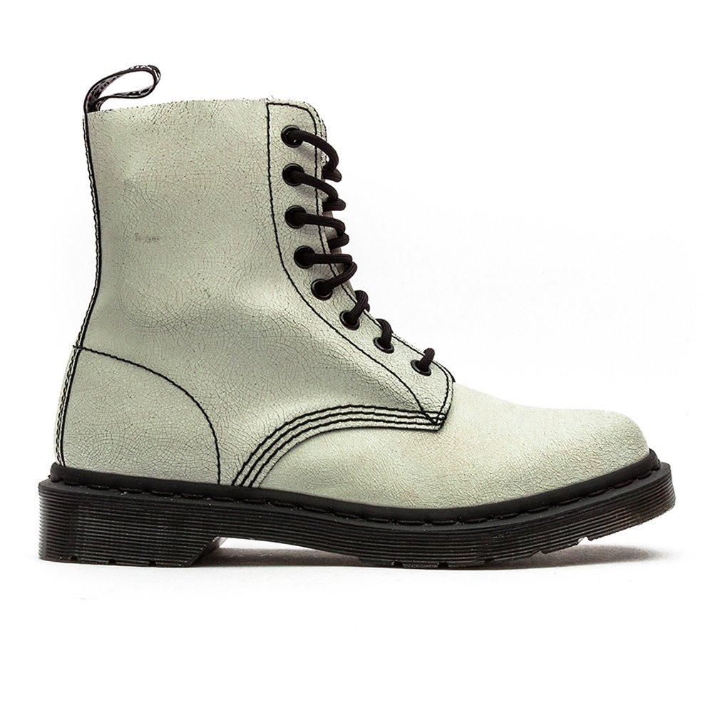 Dr. Martens Women's Pascal Leather Combat Boot B00M042POI 3 W UK / 5 B(W) US|White / Black