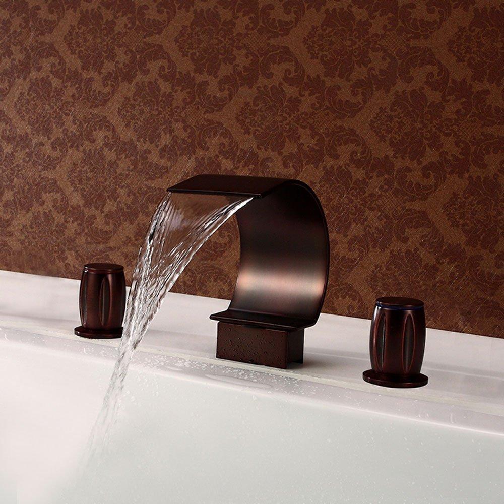 WYQLZ Fashion Retro Faucet Deck Mount Waterfall Basin Mixer