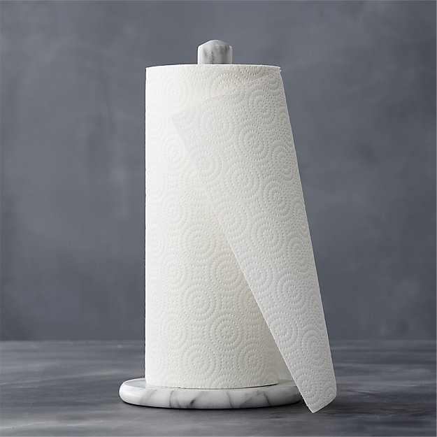 French Kitchen Marble Paper Towel Holder | Crate and Barrel