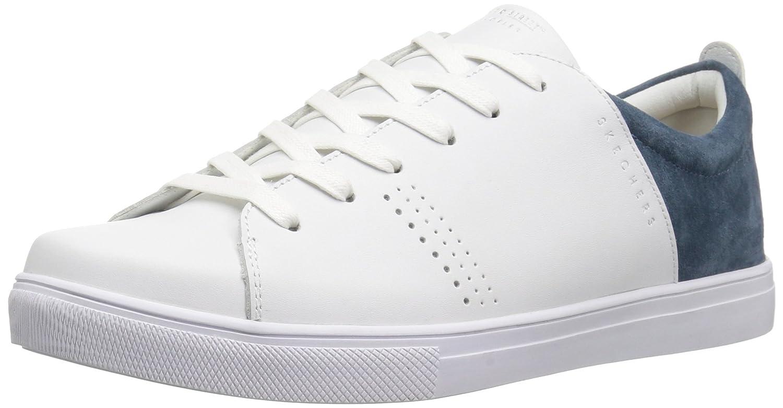 White  Navy Skechers Women's Moda - Clean Street shoes