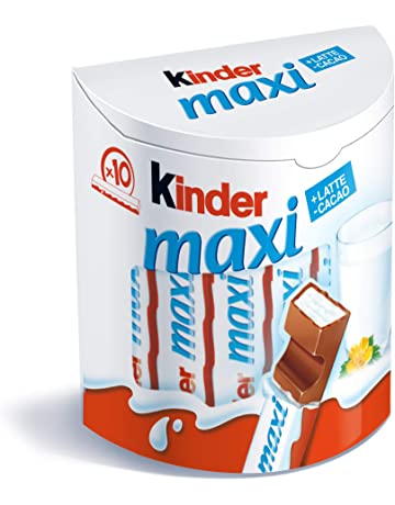 Kinder Maxi Tavolette Cioccolato Latte, 10 x 21 g