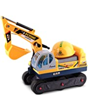Keezi Kids Ride On Car Sand Excavator Toy Car with Helmet