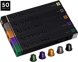 Nespresso OriginalLine Capsules, Variety Pack Assortment, Includes 50 Nespresso Capsules - 10 Roma, 10 Capriccio, 10...