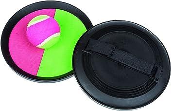 Idena 7408462 - Klettball-Set, 2 Handfänger und 1 Ball