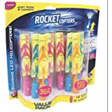 Rocket Copter The Amazing Slingshot LED Helicopters 2pk - As Seen on TV