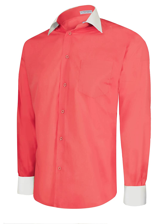 Coral Colored Mens Dress Shirts Bcd Tofu House