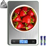 LEVIN Food Scale, 33lb Digital Kitchen Scale with 1g/0.05oz Precise Graduation, 5 Units LCD Display Scale for Cooking/Baking